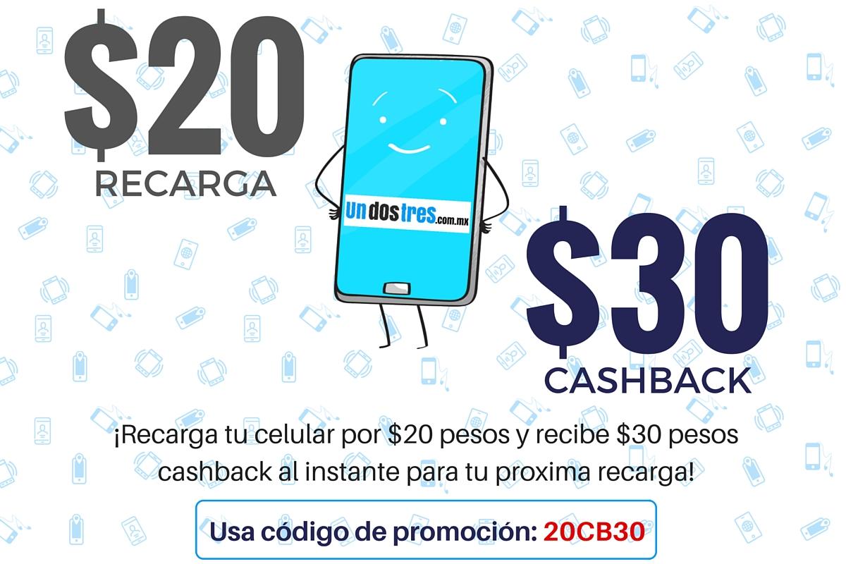 Undostres: $30 de regalo al recargar $20 en tu celular (nuevos usuarios)