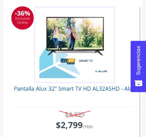 Famsa: Pantalla Smart TV Alux 32 '