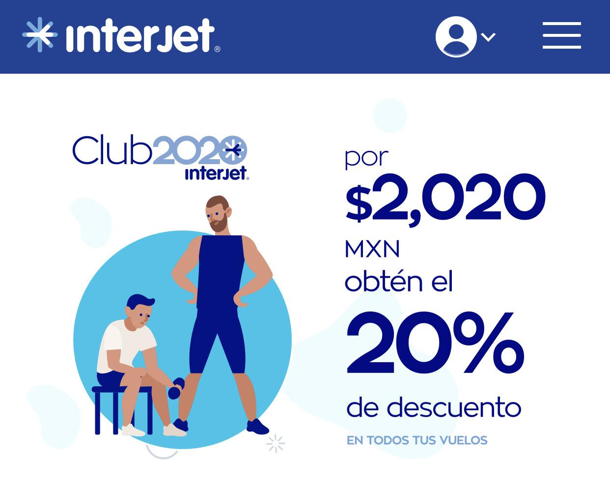 Interjet: Nueva Membresía 20% en Todos los Vuelos