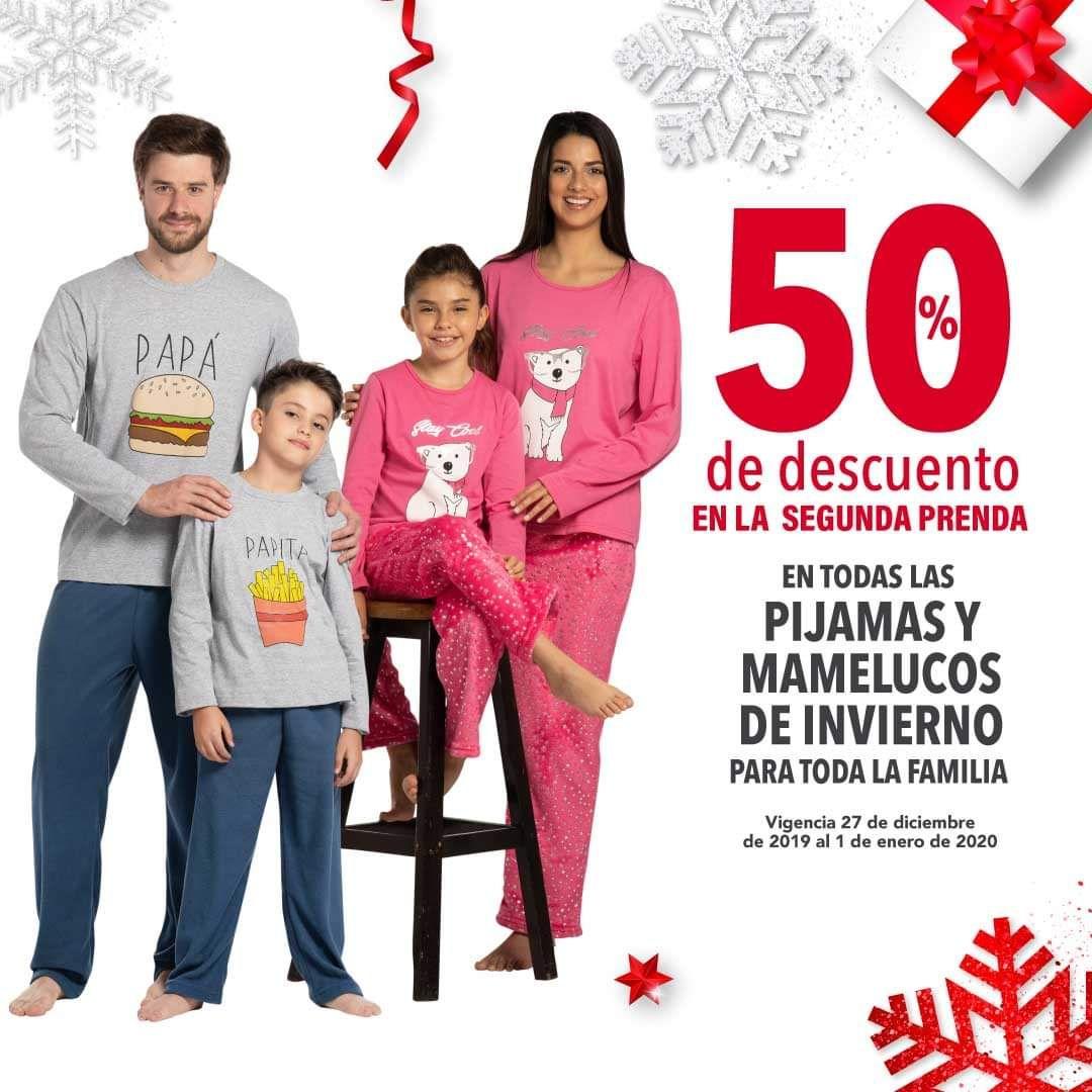Woolworth y Del Sol: 50% de descuento en la segunda prenda en todas las pijamas y mamelucos de invierno para toda la familia