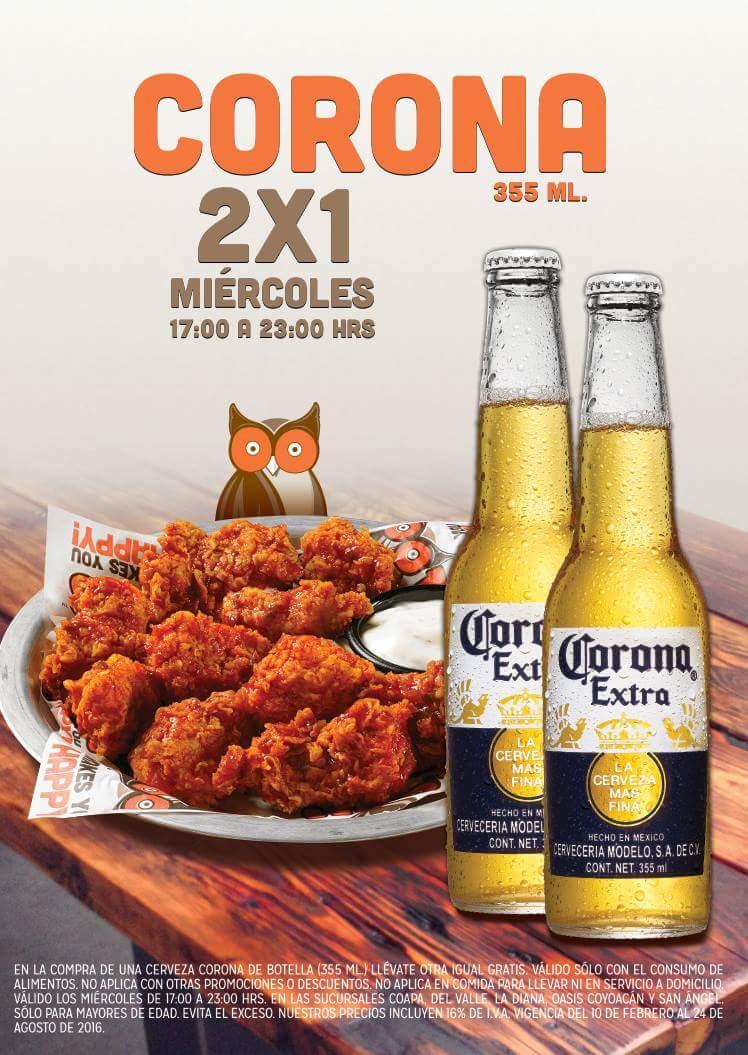 Hooters: Cerveza 2x1 Miercoles de 17 a 23 hrs