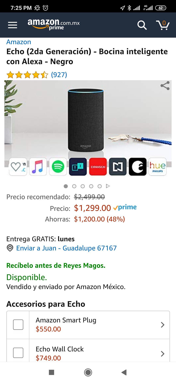 Amazon Echo 2 con Alexa