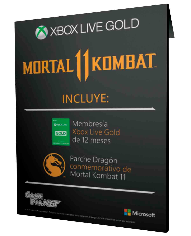 GamePlanet: Membresía Xbox Live Gold 1 año y Parche conmemorativo MK 11