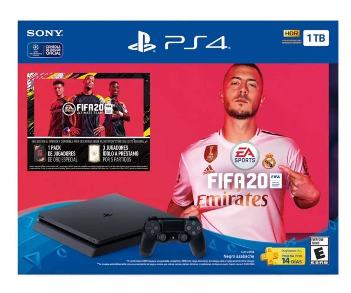 Walmart Súper: Consola PlayStation 4 1TB más 1 Videojuego Fifa 20
