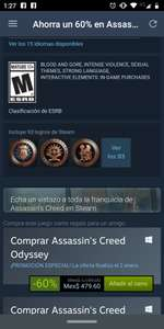 Steam: Assassin's Creed Odissey