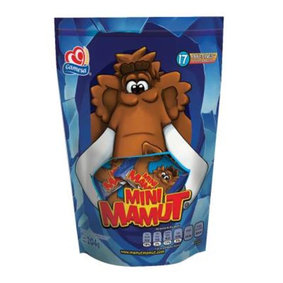 Walmart Súper: Mini mamut Gamesa 17 paketines de 12 g c/u