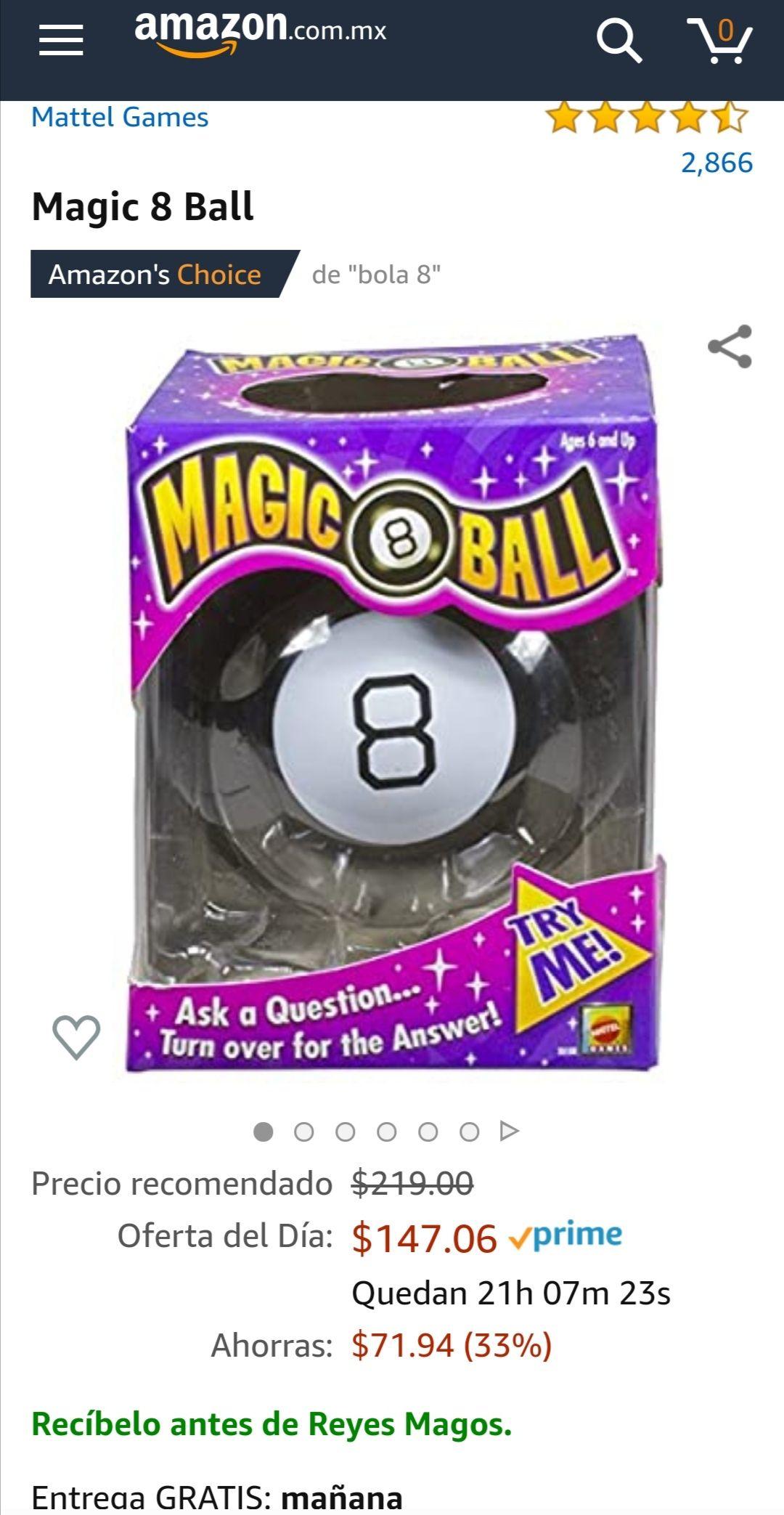 Amazon: Magic 8 Ball (aplica Prime)