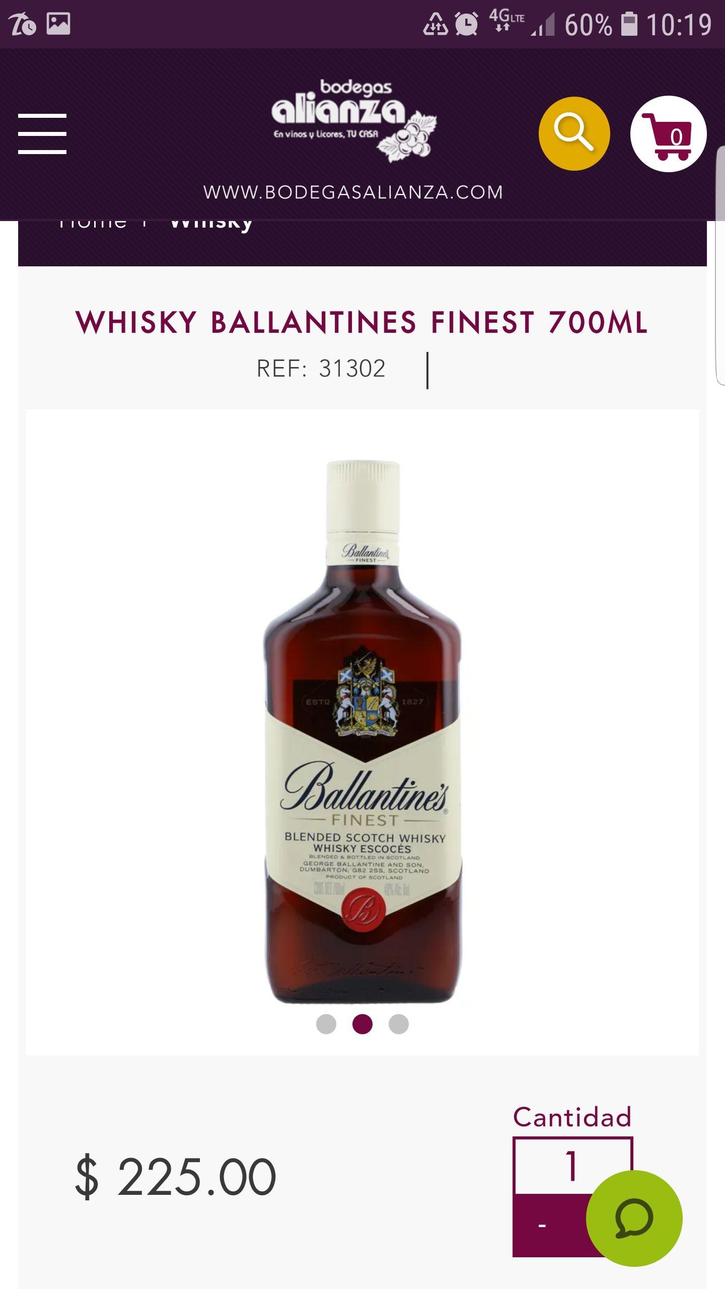 Whisky Ballantine's 3x2 Bodegas Alianza