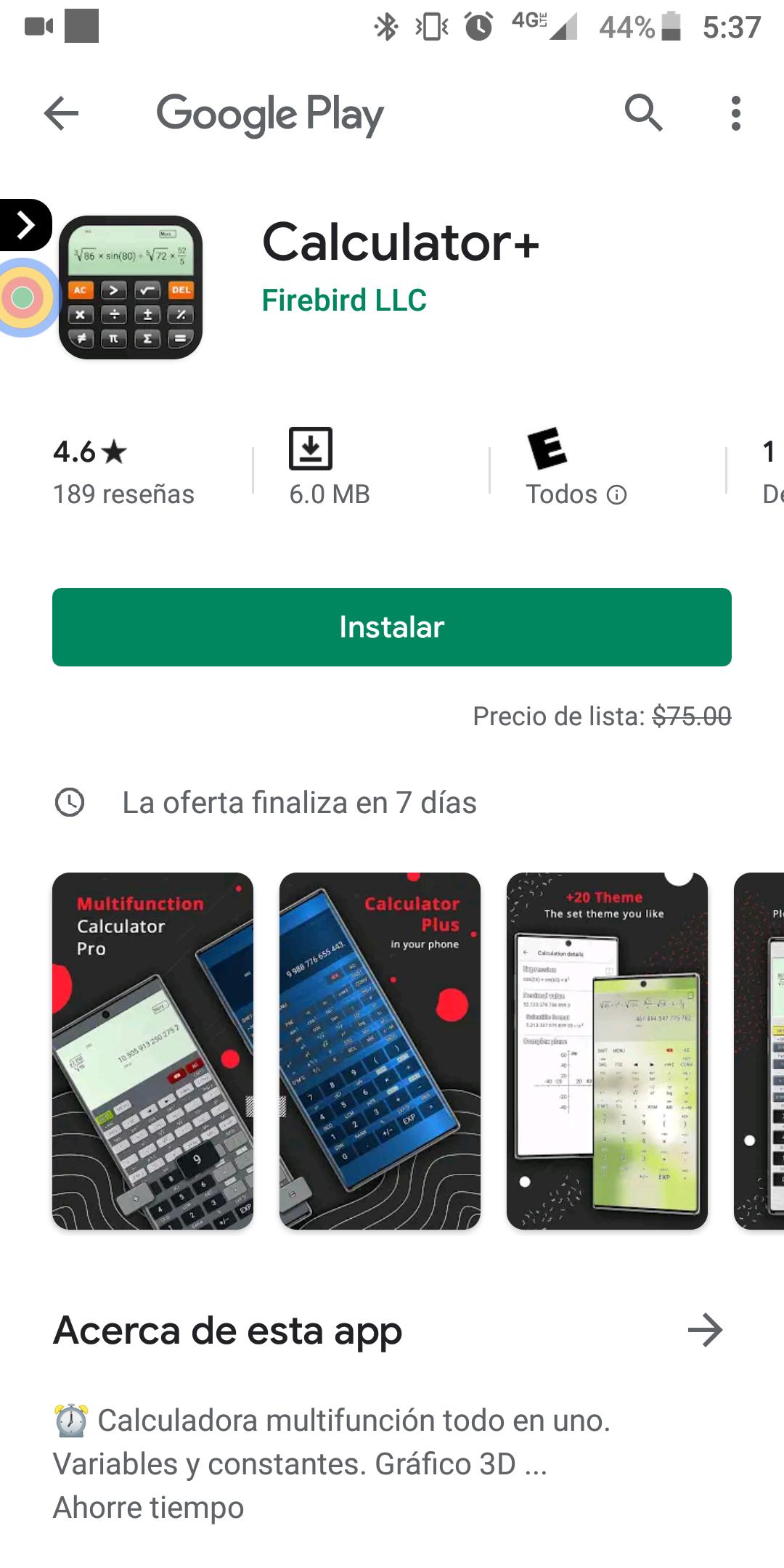 Google Play: Calculator +