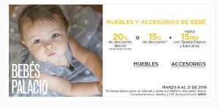 Palacio de Hierro: muebles y accesorios para bebés con 20% de descuento