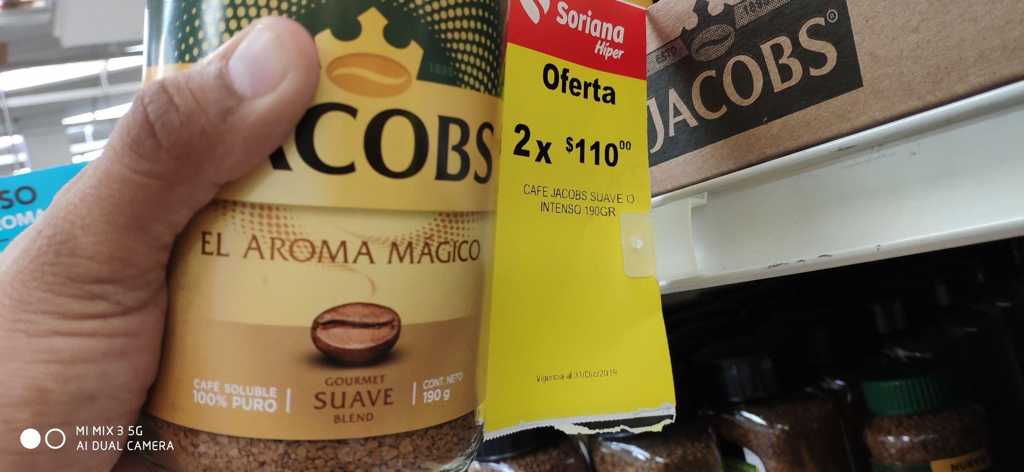 Soriana Café Jacobs Intenso 190 gramos