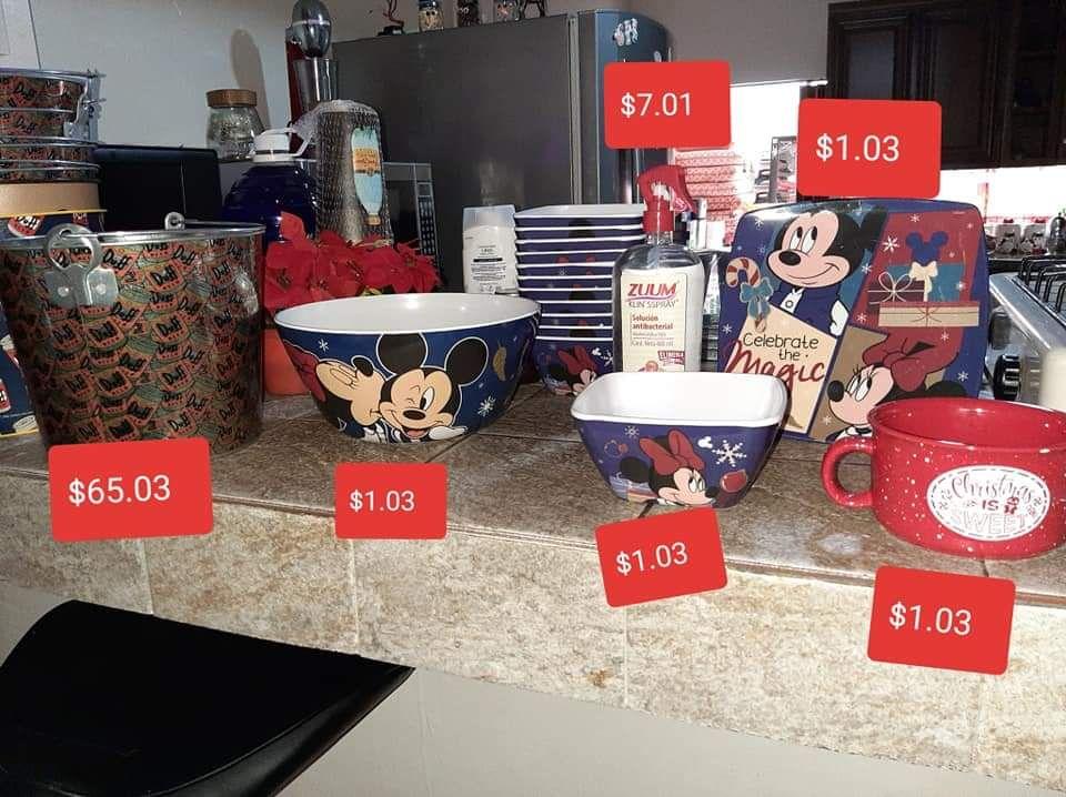 Walmart: Platos, tazones y pocillos línea Mickey y más