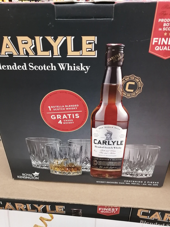 Soriana: whisky carlyle