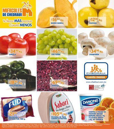 Ofertas frutas y verduras Chedraui abril 2-3: plátano $7.50 y más