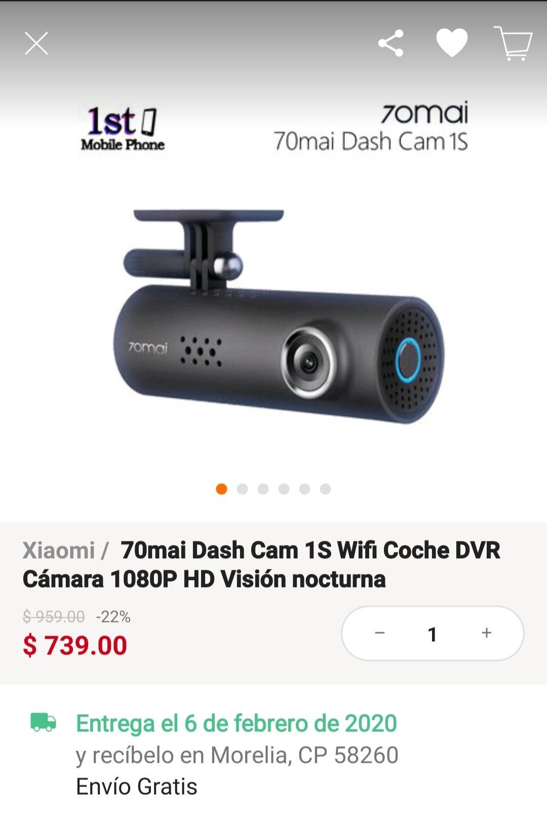 Linio 70mai Dash Cam 1s Wifi