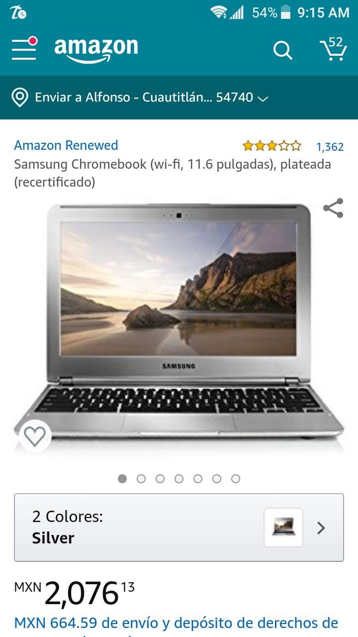 Amazon USA: Samsung Chromebook (wi-fi, 11.6 pulgadas), plateada (recertificado)