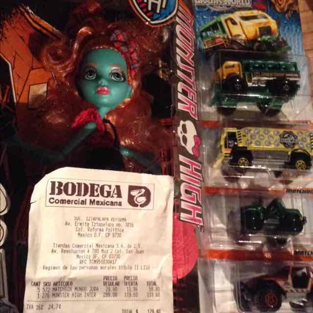 Comercial Mexicana: carritos Matchbox Jurassic World a $11.96