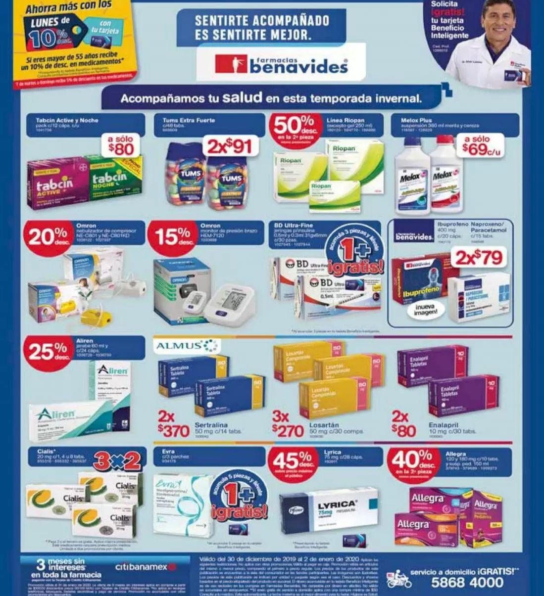 Farmacias Benavides: Ofertas del Lunes 30 de Diciembre al Jueves 2 de Enero