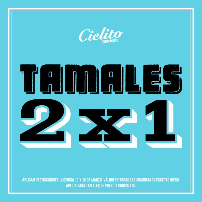 Cielito Querido: 2x1 en tamales sábado y domingo