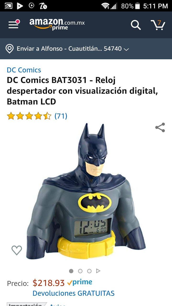 Amazon: DC Comics BAT3031 - Reloj despertador con visualización digital, Batman LCD