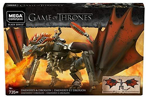 Amazon: Mega Construx 735 Pzas Game of Thrones Daenerys & Drogon Playset
