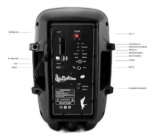 Tienda Oficial Ventronic en Mercado Libre: Bafle bocina batería recargable con amplificador USB y Radio