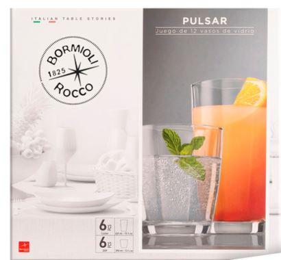 The Home Store Juego de Vasos Pulsar 12 pzs