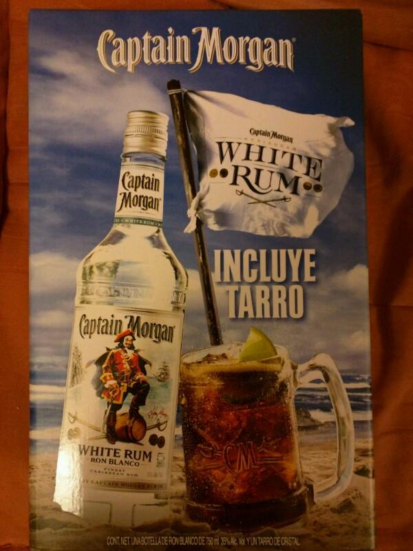 Superama Polanco: Captain Morgan White Rum 750ml + Tarro
