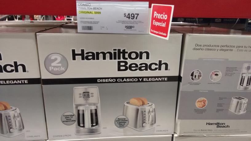 Sam's Club: cafetera y tostador hamilton beach de  999 a 497