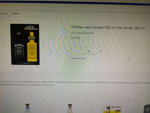 Jack Daniels 700ml más honey de 350ml Waltmart