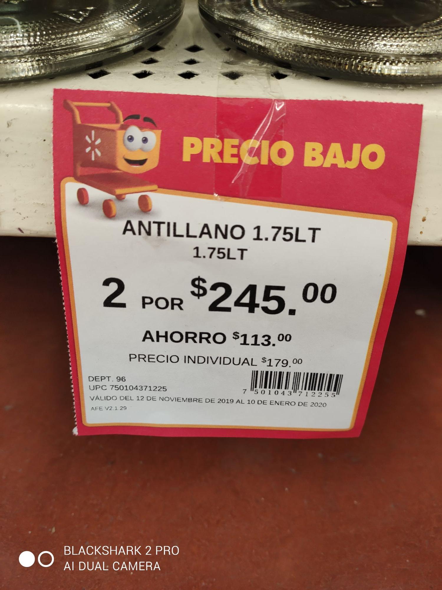 Walmart: 3.5 litros de ron antillano a $245