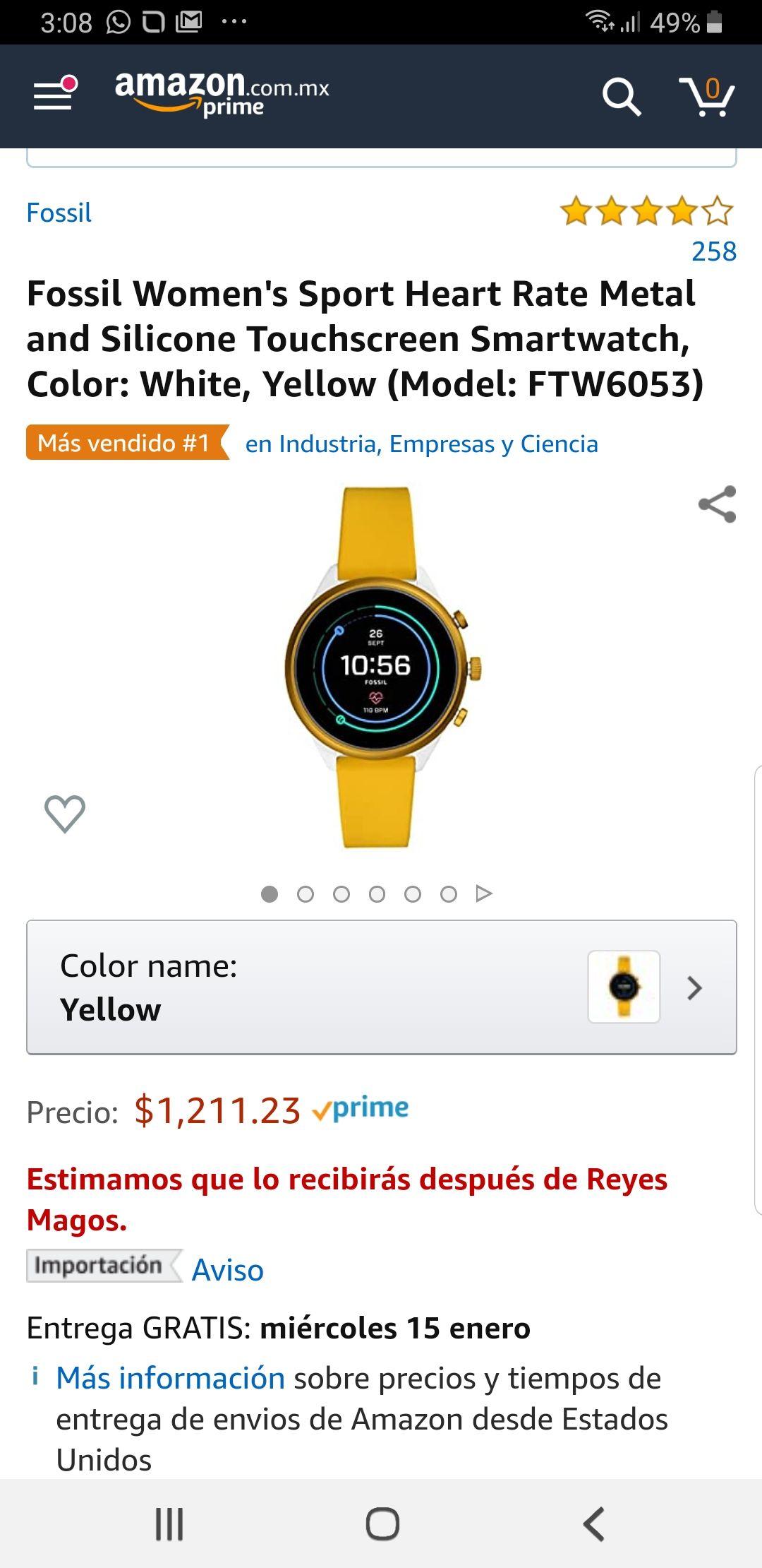 Amazon Smartwatch fossil mujer