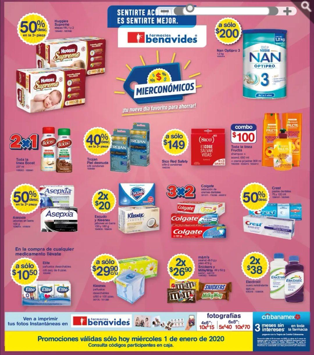 Farmacias Benavides: Mierconómicos 1 de Enero