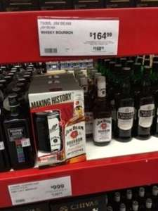 Sam's Club Mty: Jim Beam 750 ml + 1 mason jar jumbo con tapa y popote a $165