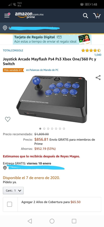 Amazon: Joystick para pc y algunas consolas