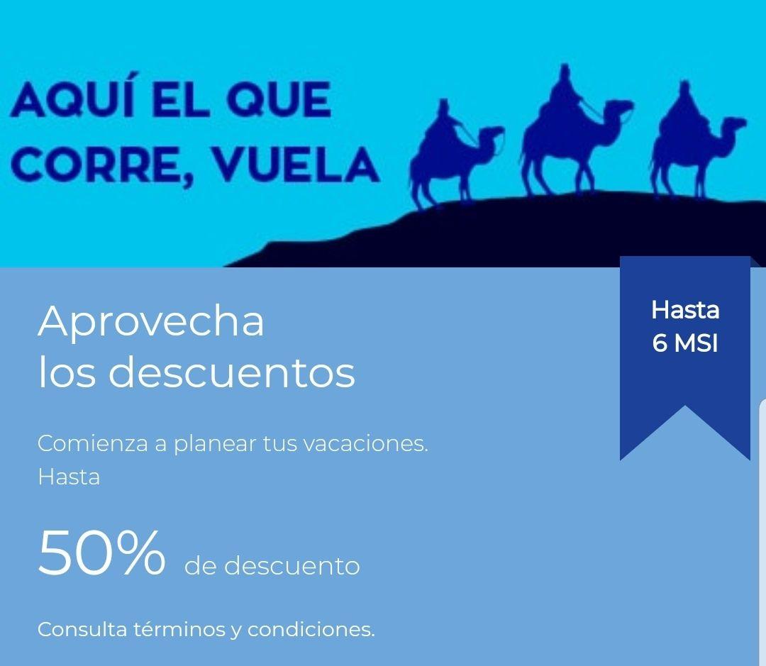 Interjet: 50% de descuento en viajes nacionales e internacionales