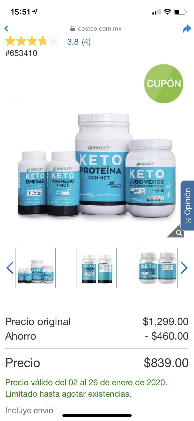 Costco GreenSide paquete KETO