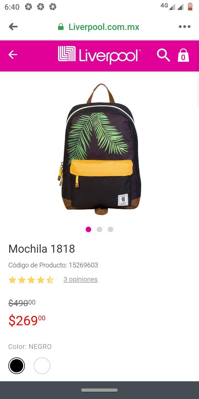 Liverpool: Mochila 1818 a 269.00