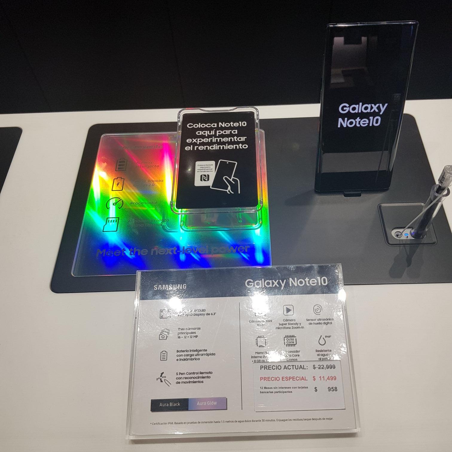 Samsung Store: SAMSUNG NOTE 10 con 50% de descuento Y MSI