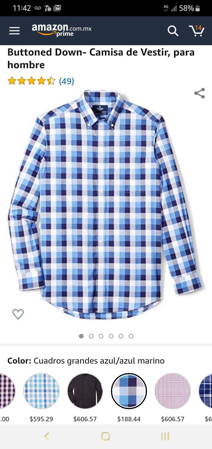 Amazon: camisa de algodón Buttoned Down