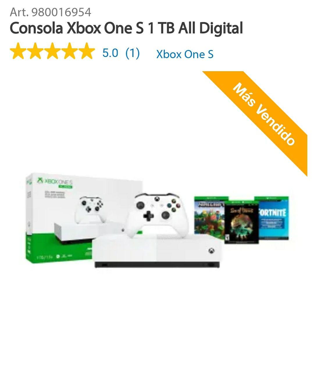 Sam's Club en linea: Xbox One Digital. 19% de descuento pagando con Inbursa o 16% de descuento pagando con Bancomer + 9 meses sin intereses.