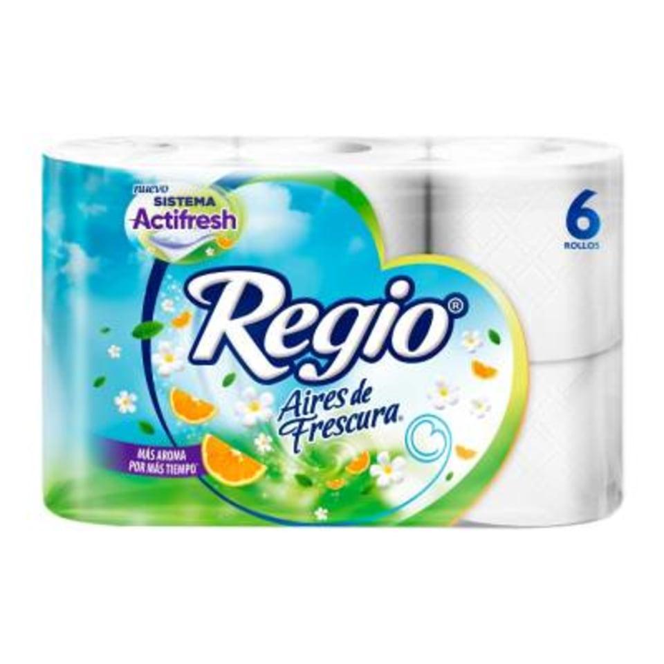 walmart online : 2 Papel higiénico Regio aires de frescura 6 rollos con 250 hojas dobles (2x$35)