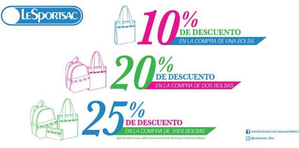 Lesportsac: hasta 25% de descuento en bolsas