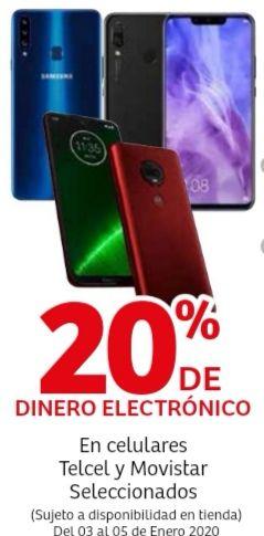 Soriana Híper: 20% de dinero electrónico en celulares Telcel y Movistar seleccionados