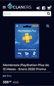 Claners: Playstation Plus 12 meses