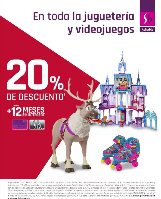 Suburbia: 20% de descuento en toda la juguetería y videojuegos + hasta 12 MSI
