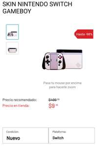 GamePlanet: Skin para Nintendo Switch de Game Boy