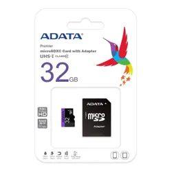 Elektra: Micro SDXC 32GB con Adaptador SD Clase 10 V10 Premier ADATA MEMFLA-MSD32G2A