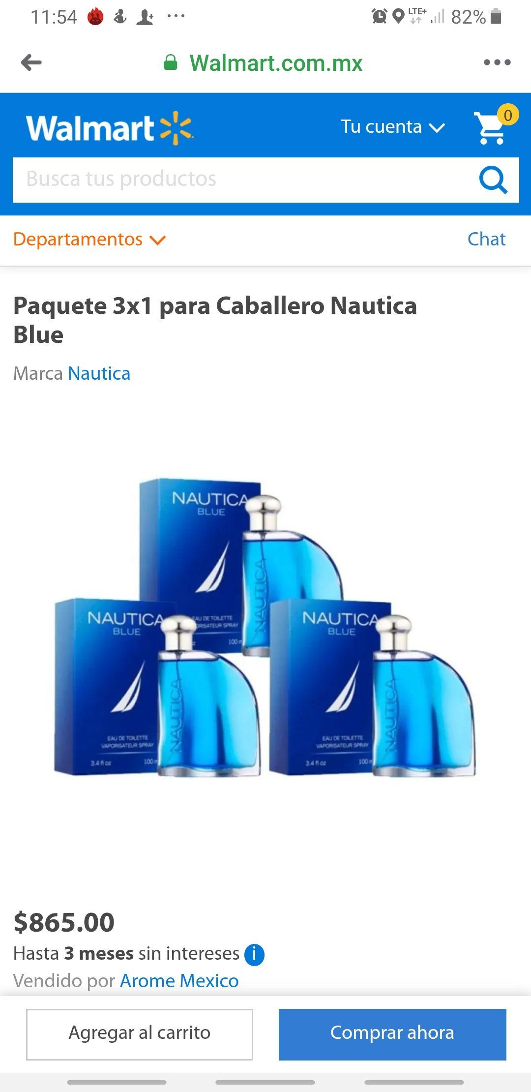 Walmart: 3x1 Perfume Nautica Blue