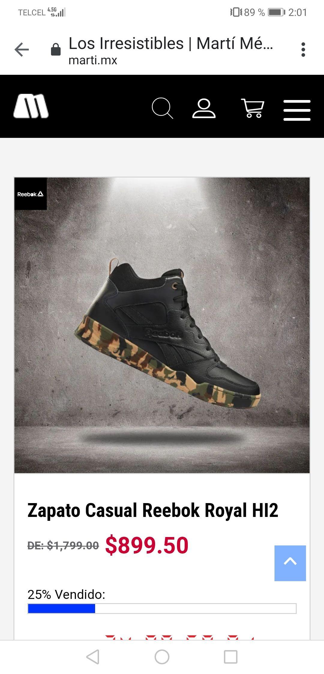 Martí: Zapato Casual Reebok Royal Hi2